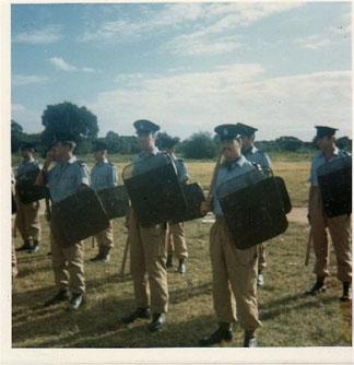Police at Ronald Webster Park 1969