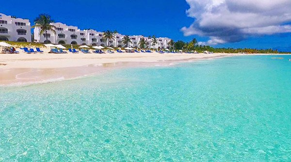 CuisinArt Golf Resort and Spa opens up onto Rendezvous Bay's idyllic white-sand beach