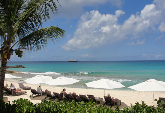 Anguilla hotels, restaurant, Viceroy, view