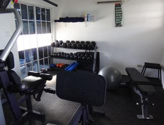 gym at shoal bay villas