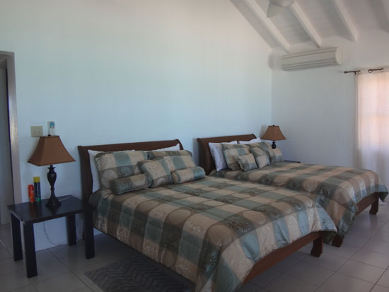 double beds in second level room