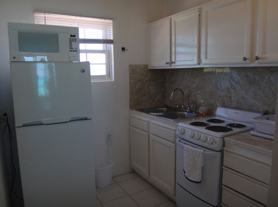 kitchen in rendezvous bay hotel unit