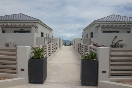 entrance of solaire hotel in anguilla
