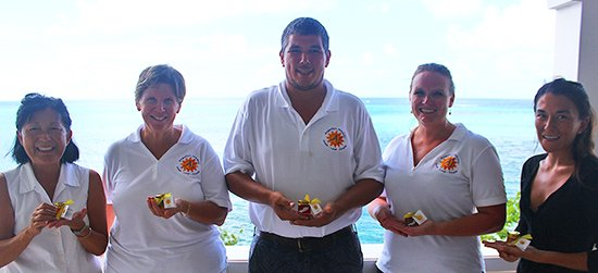 nori and mom with anguilla jammin team, jackie cestero, tom and molly