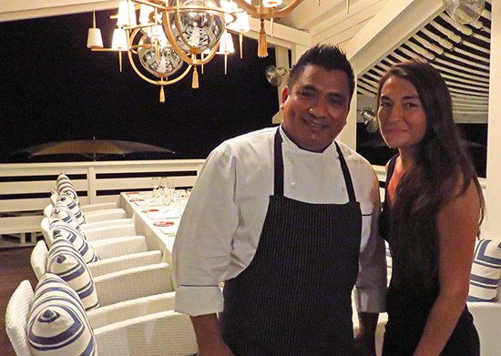 chef cupertino ortiz at malliouhana in anguilla