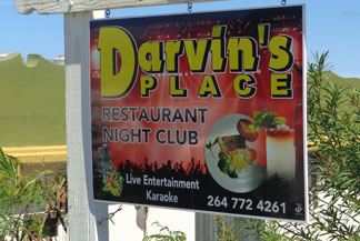 Anguilla nightlife, Anguilla nightclub, Darvin's Place, Darvin Mussington, live music