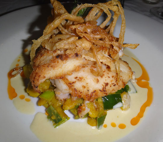 coconut crusted grouper at e's oven