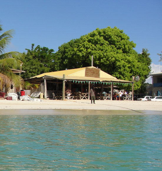 Anguilla restaurant, Johnno's, beach bar