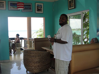 Anguilla restaurant, On Da Rocks, owner, Island Harbour