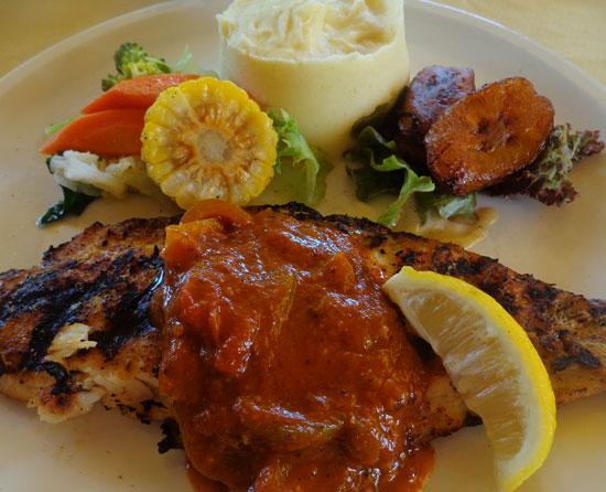 Anguilla food, Anguilla restaurants, Andy's Restaurant, kid-friendly, Anguilla lunch, Anguilla dinner, grilled fish