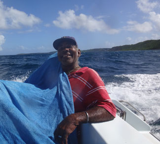 the ride to work on the caribbean sea