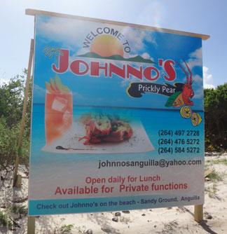 johnnos sign at prickly pear