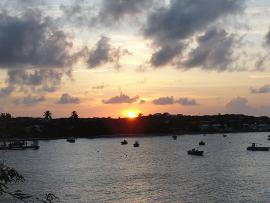 Anguilla restaurant, On Da Rocks, Island Harbour sunset