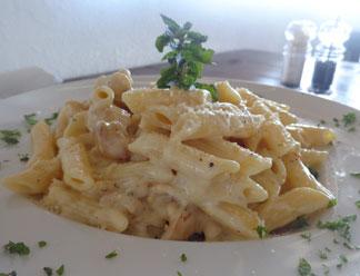 Anguilla food, Anguilla restaurants, Poker's Plank, pirate theme, kid-friendly, Anguilla lunch, Anguilla dinner, chicken pasta