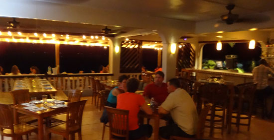 Anguilla restaurants, SandBar, dining room