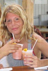 drinking rum punch at elvis' beach bar