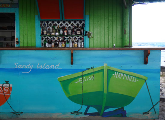 sandy island bar in anguilla