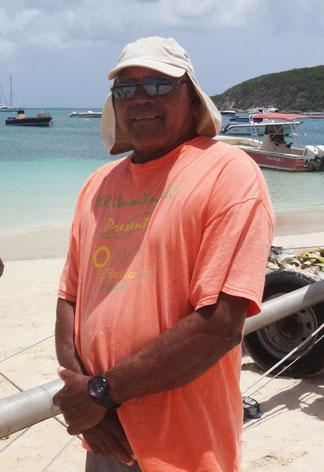 Errol Romney, captain of de tree anguilla sail boat