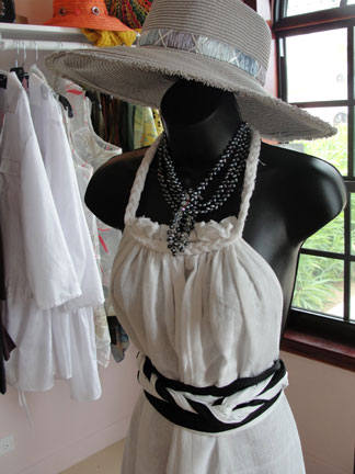 Anguilla shopping, shopping in Anguilla, Petals Boutique, dresses, belts, Frangipani Beach Resort, Meads Bay