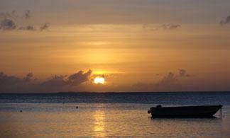 sunset on crocus bay
