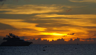 orange sunset in anguilla