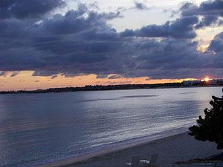 purple sunset in anguilla
