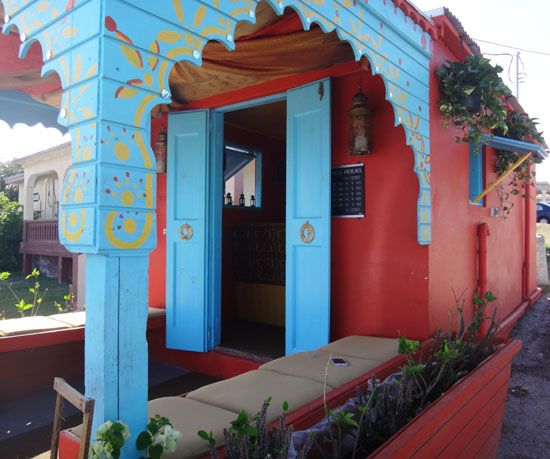 outside good korma restaurant in anguilla