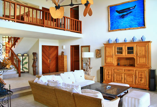 main living area inside this villa
