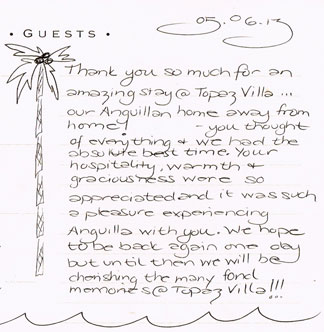 topaz guest note