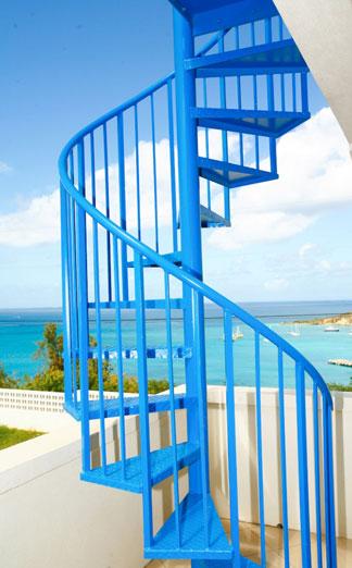 topaz villa staircase anguilla