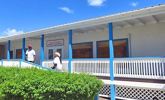 anguilla water taxi terminal in st. maarten