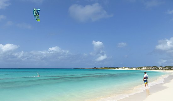the kitesurfing lesson setting in anguilla