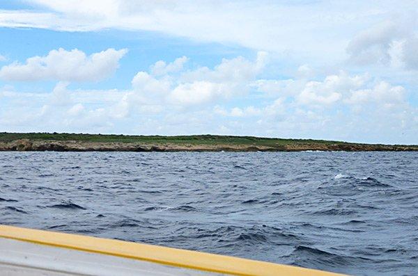 approaching dog island anguilla