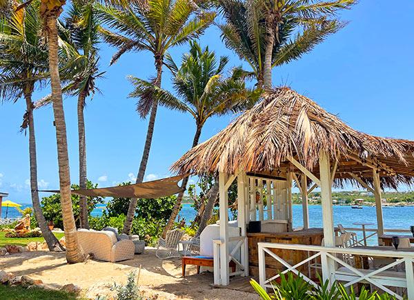 arawak beach club outdoor lounge