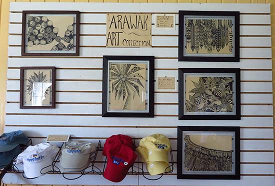natalie artwork in arawak shop