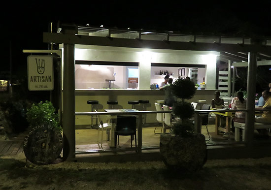 outside of artisan pizza restaurant in anguilla
