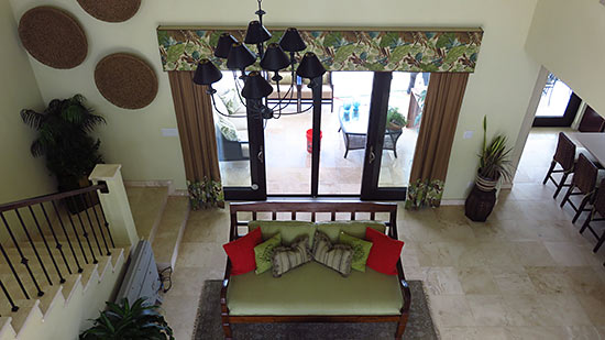 going upstairs at sunset beach house