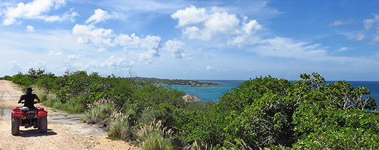 overlooking scilly cay in island harbour anguilla