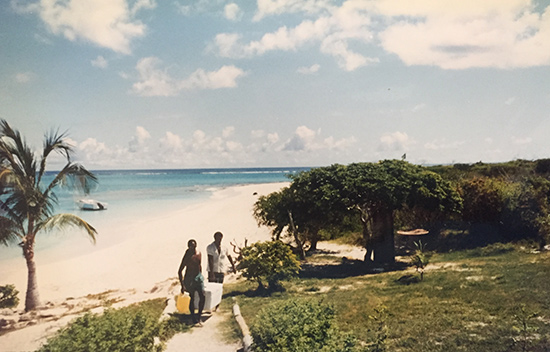 the beach at prickly pear back in the day