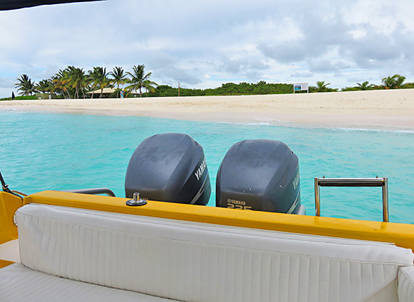 backing into prickly pear with shoal bay scuba