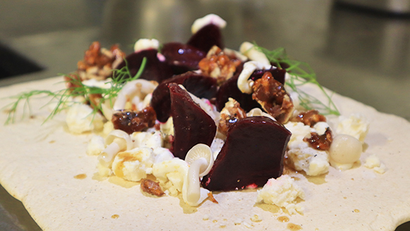 Baked Beet Salad at Santorini