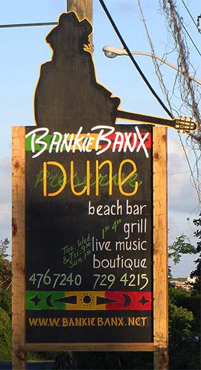 bankie banx anguilla dune preserve sign