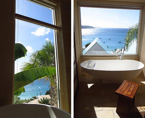 views from bathtub at CéBlue