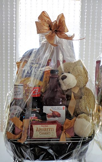 bbq bear basket from the gift box