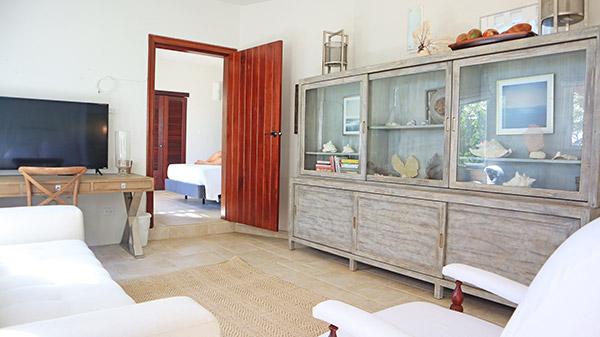 Beach Escape Villa master suite sitting area