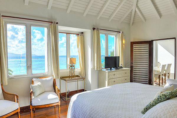 Beach Escape Villa Master Bedroom main house