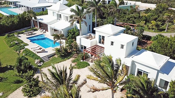 main house at beach escape villa