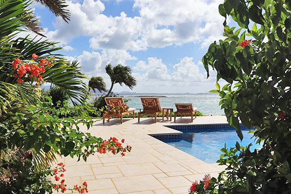 Beach Escape Villa pool deck