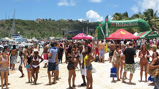 beach scene on sandy ground