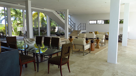 living room at beaches edge